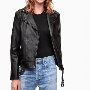 Mackage Aritzia Florica Lamb Leather Jacket Medium Black